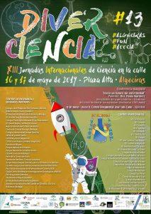 """DIVERCIENCIA (ALGECIRAS) Del 16 al 17 de Mayo de 2019, """"XIII Jornadas Internacionales De Ciencia en La Calle"""" (ALGECIRAS)"""