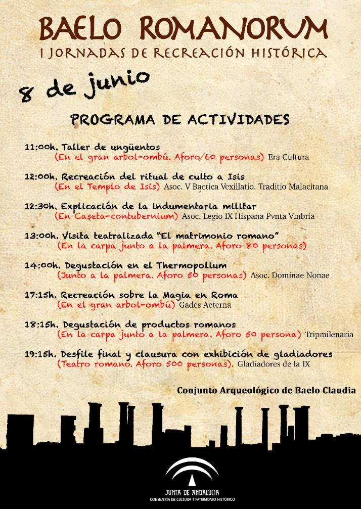 I Jornadas de Recreación Histórica Baelo Romanorum_Conjunto Arqueológico Baelo Claudia (Tarifa) 8 Junio de 2019 cadiz niños adondevoyconmifamilia