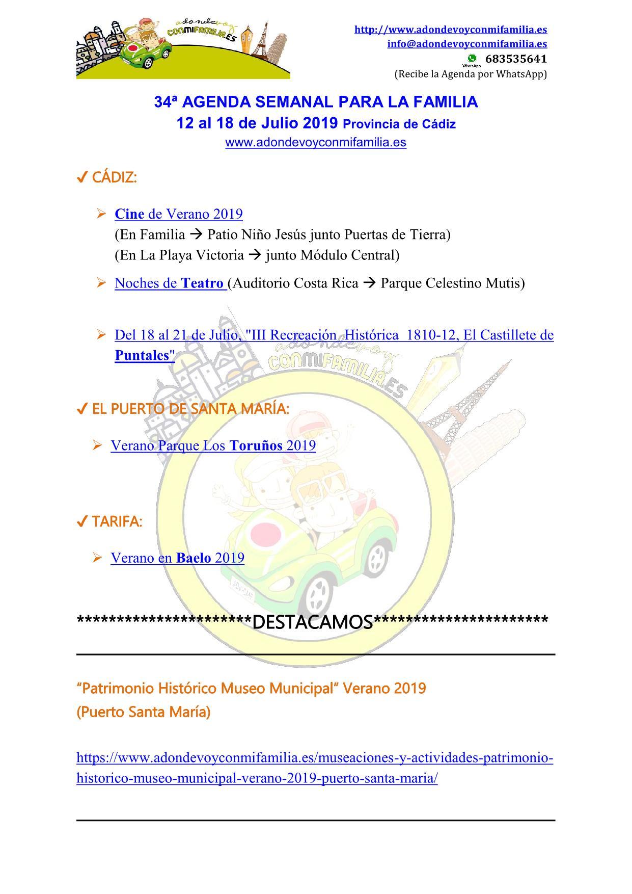 034 Agenda semanal familiar 12 al 18 Julio 2019