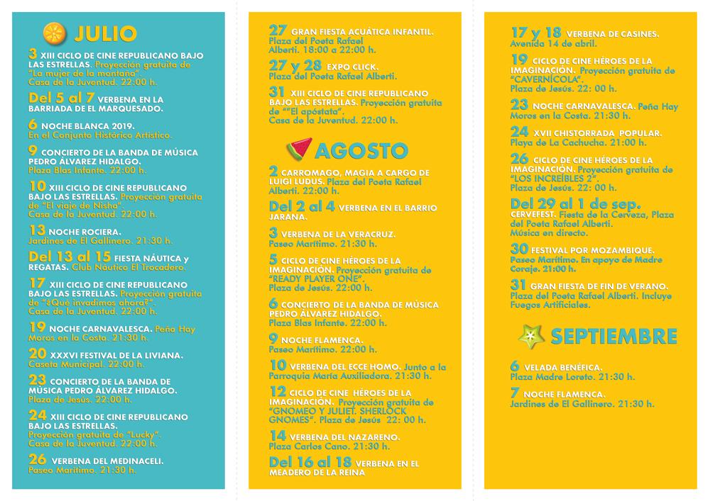 Agenda de Verano 2019 (Puerto Real)