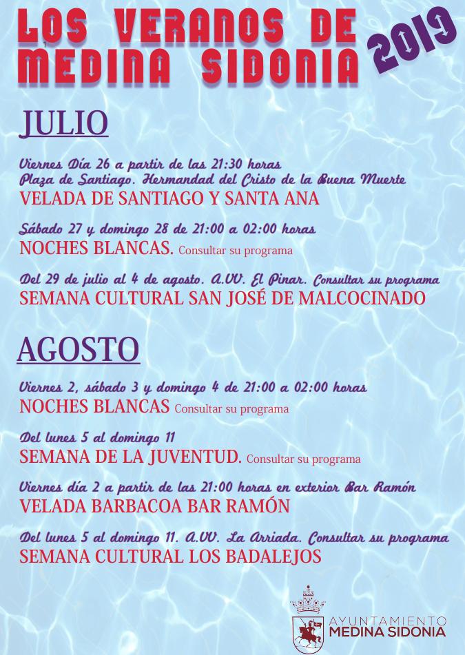 Agenda de Verano 2019 (Medina Sidonia))