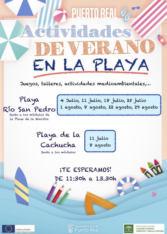 Actividades para niños playas Puerto Real Verano 2019
