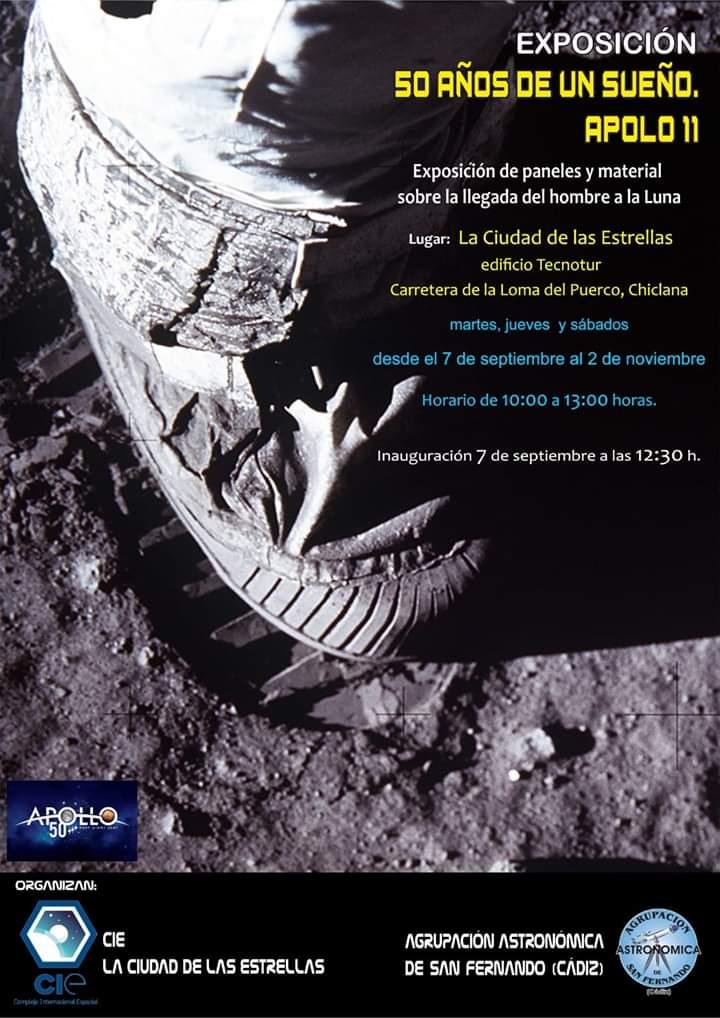 Exposición de un sueño apolo 11 Del 07 de Septiembre al 02 de Noviembre (Chiclana))