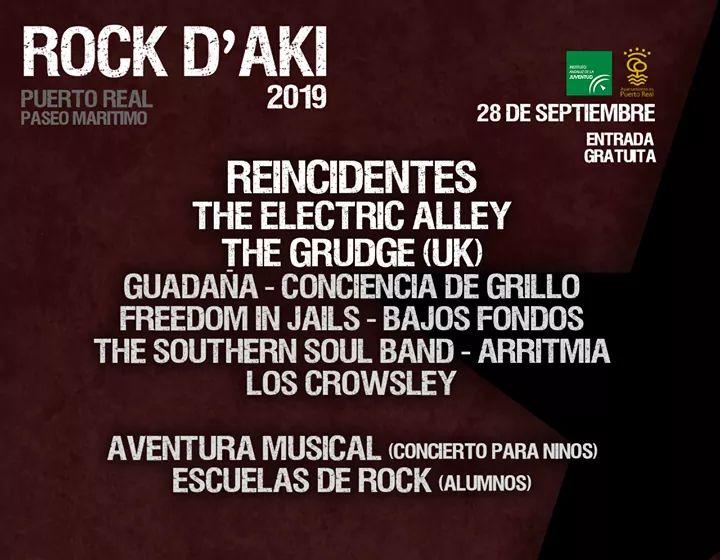 Rock d'aki 2019 Sábado 28 de Septiembre de 2019 (Puerto Real))