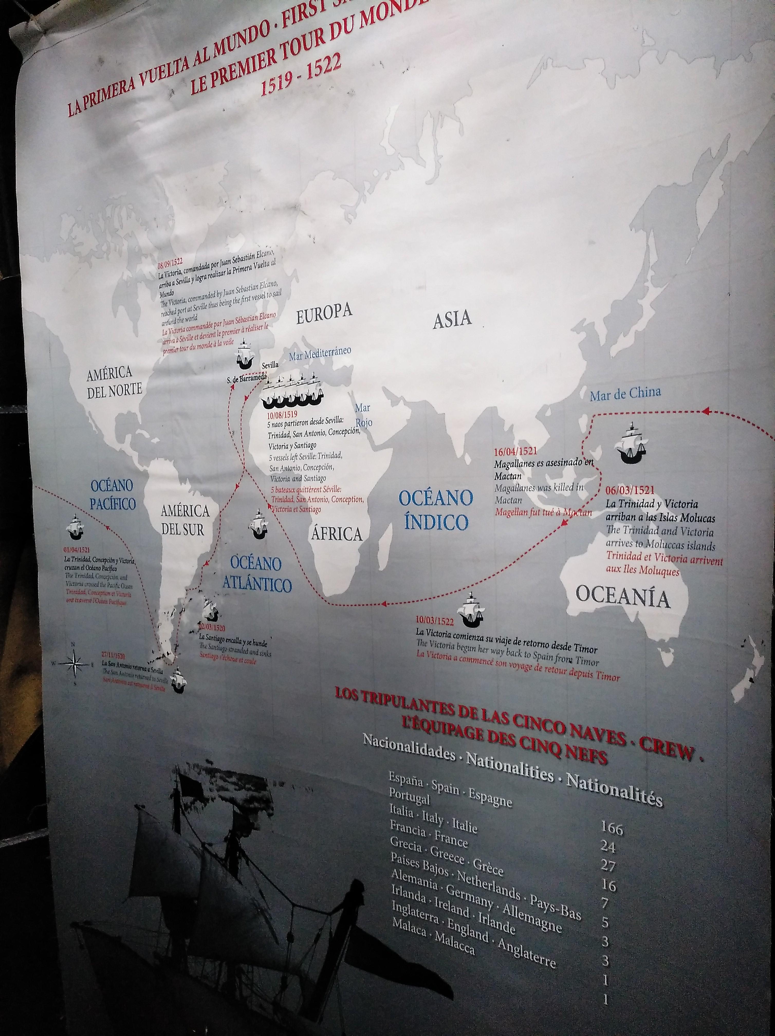 ¿Donde vamos? Pues a subirnos a bordo de la Replica de la Nao Victoria en familia, que durante este fin de semana del 21 al 22 de Septiembre de 2019, podemos visitar en el Muelle de Bonanza, junto a otras actividades de este evento del V Centenario de la 1º Vuelta al Mundo.