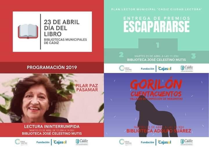 ACTIVIDADES BIBLIOTECAS PROVINCIAL Y MUNICIPALES 2019/ 2020 (CÁDIZ)