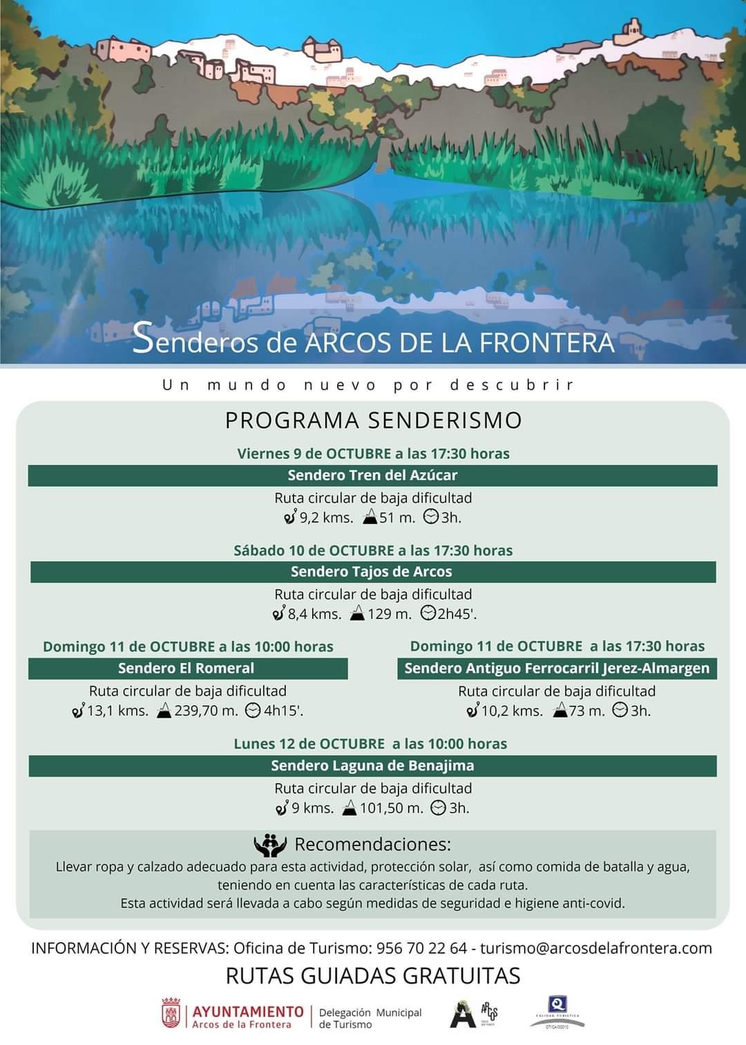 Rutas guiadas gratuitas Arcos puente del pilar 2020