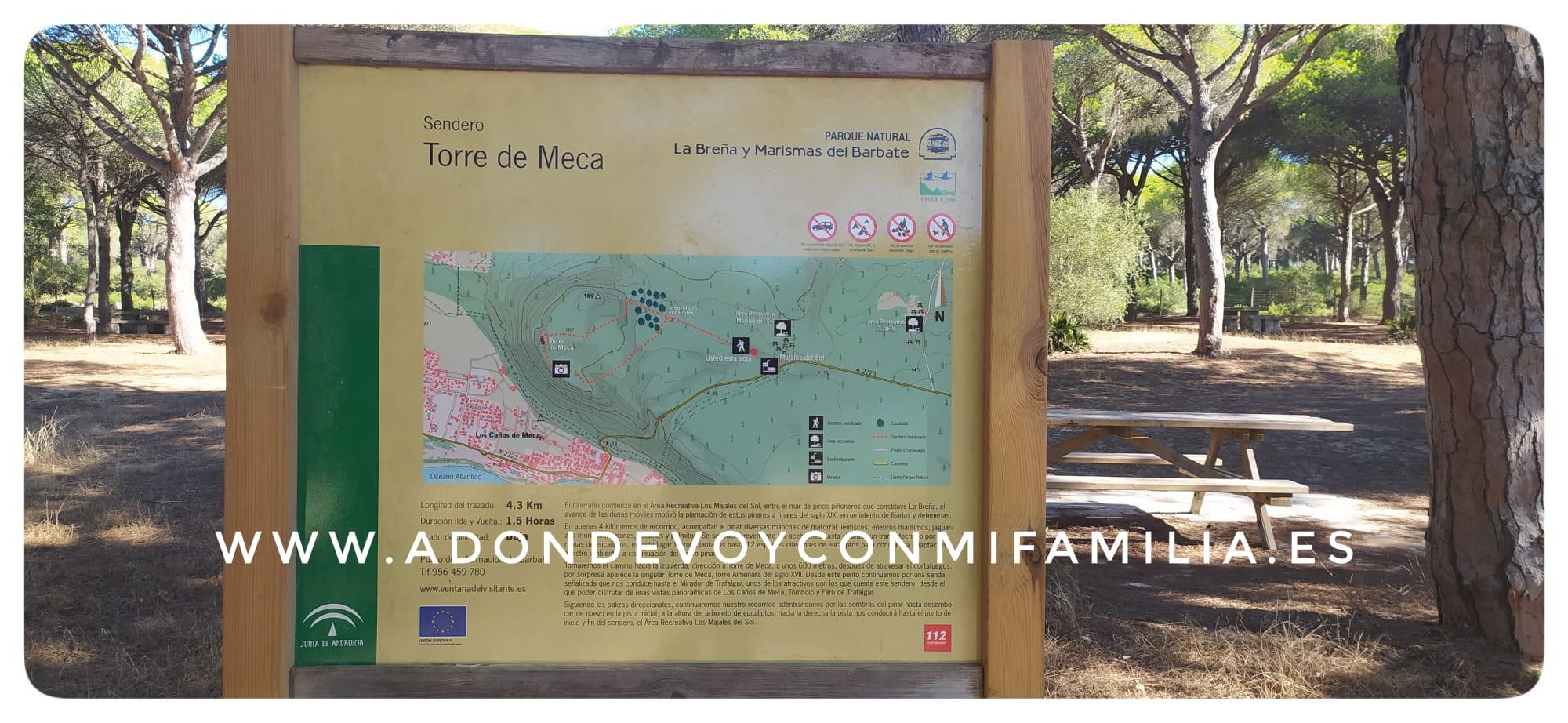 SENDERO TORRE DE MECA  Parque Natural Las Breñas y Marismas de Barbate