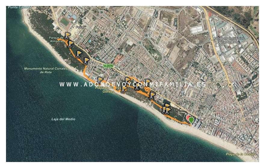 mapa sendero litoral rota adondevoyconmifamilia
