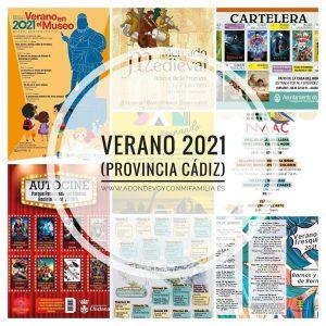 portada agenda verano 2021 provincia de cadiz adondevoyconmifamilia