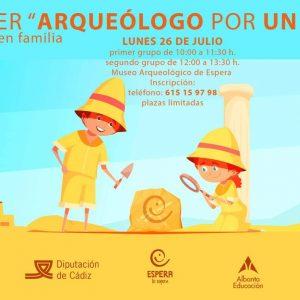 taller arqueologia niños espera verano 2021