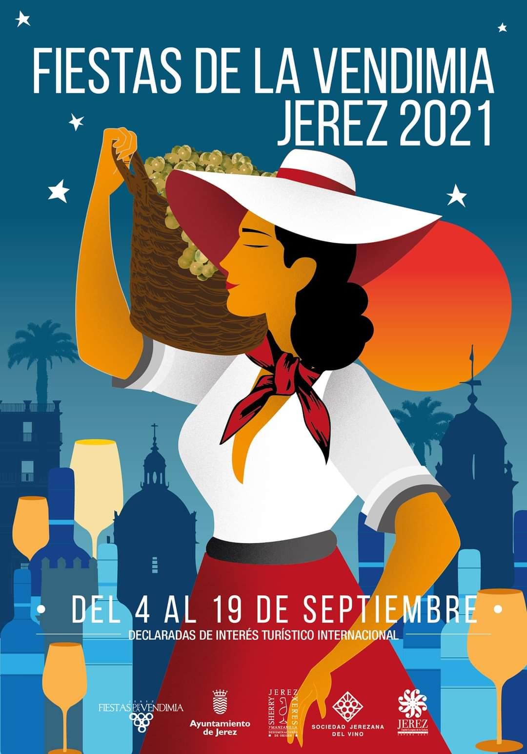 fiesta vendimia jerez septiembre 2021 cartel