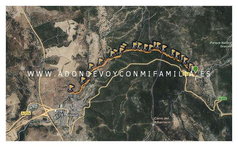 mapa ruta rio majaceite wikiloc adondevoyconmifamilia