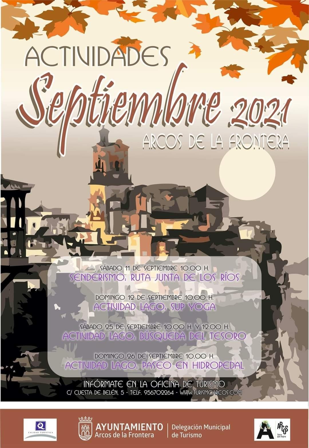 actividades turisticas arcos septiembre 2021